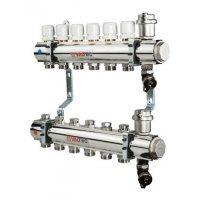 """Коллектор Valtec 1""""х3/4"""" 10 контуров для радиаторного отопления (латунь) VTc.594.EMNX.0610"""