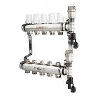 """Коллектор Valtec 1""""х3/4"""" 10 контуров для радиаторного отопления нерж. сталь VTc.588.EMNX.0610"""