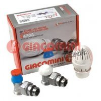 """Комплект термостатический Giacomini R470F 1/2"""" угловой для радиатора"""
