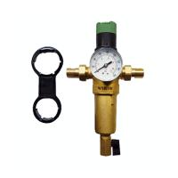 """Фильтр с регулятором давления и манометром 1/2"""" для горячей воды JH157 ViEiR"""