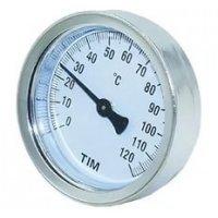 Термометр TIM накладной 63/120°C с пружиной