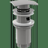 """Донный клапан AlcaPlast A393 click/clack 1 1/4"""", с переливом и квадратной заглушкой"""