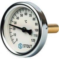 "Термометр биметаллический DN 63 мм гильза 50 мм 1/2"" 120°С Stout SIM-0001-635015"