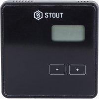 Беспроводной комнатный регулятор R-8b, черный Stout STE-0101-008002
