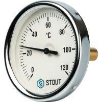 "Термометр биметаллический DN 80 мм гильза 50 мм 1/2"" 120°С Stout SIM-0001-805015"