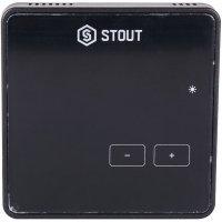 Беспроводной комнатный регулятор R-8z, черный Stout STE-0101-008004