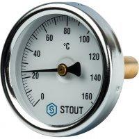 "Термометр биметаллический DN 63 мм гильза 50 мм 1/ 2"" 160°С Stout SIM-0002-635015"