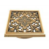 """Решетка для трапа """"Цветок"""" Bronze de Luxe 21975 bronze"""