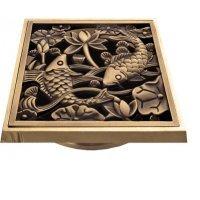 """Решетка для трапа """"Рыбы"""" Bronze de Luxe 21980 bronze"""