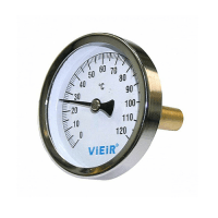 "Термометр гильзой 1/2"" 120°C YL18 ViEiR"