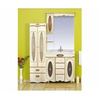Комплект мебели 100 см, бежевая патина, Misty Монако 100 Л-Мнк01100-0334Я-K