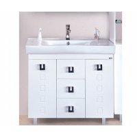 Комплект мебели 100 см, белая, Misty Эллада 100 П-Элл01100-0113Я-K
