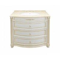 Комплект мебели 100 см, бежевая сусальное золото, Misty Tiffany 100 Л-Тиф01100-3813Я-K