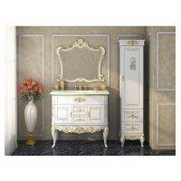 Комплект мебели 100 см, бежевая сусальное золото, Misty Bianco 100 Л-Бья01100-3812Я-K