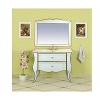 Комплект мебели 100 см, белая сусальное золото, Misty Анжелика 100 Л-Анж01100-3912Я-K