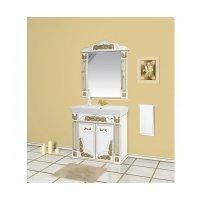Комплект мебели 100 см, белая патина, Misty Барокко 100 Л-Бар01100-013Пр-K