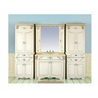 Комплект мебели 100 см, бежевая патина, Misty Афина 100 Л-Афи01100-033Пр-K