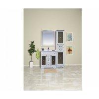 Комплект мебели 100 см, белая патина, Misty Ницца 100 Л-Ниц01100-013-K