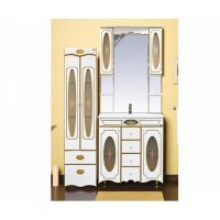 Комплект мебели 100 см, белая патина, Misty Монако 100 Л-Мнк01100-0134Я-K
