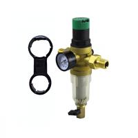 """Фильтр с регулятором давления и манометром 1/2"""" для холодной воды JC158 ViEiR"""