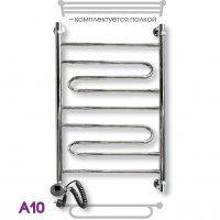 Лесенка полотенцесушитель электрический Эрато А-10 ЭЛ ВП 100x50