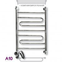 Лесенка полотенцесушитель электрический Эрато А-10 ЭЛ ВП 120x50
