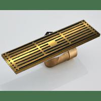 Душевой трап с обратным клапаном прямой 8x30 Hansen H6803-1D Бронза