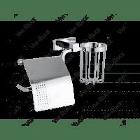 Бумагодержатель с держателем освежителя воздуха Vivi Felice Exclusivo B 1007-S