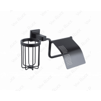 Бумагодержатель с держателем освежителя воздуха Vivi Felice Notte FL 1007-D N Черный матовый